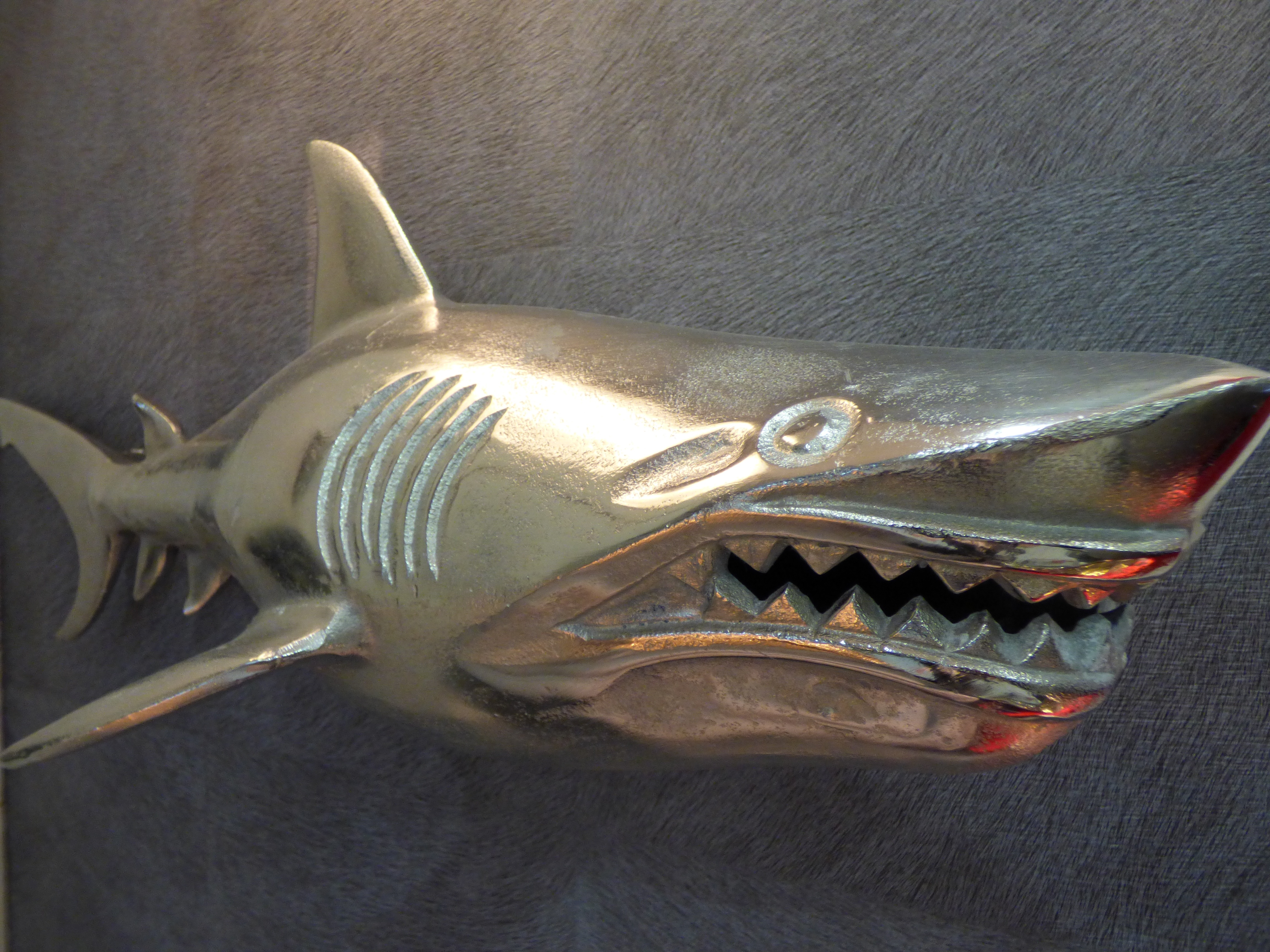 D coration murale requin en m tal home and u home and u for Requin decoration
