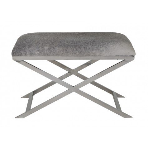 tabouret en peau de vache gris home and u home and u. Black Bedroom Furniture Sets. Home Design Ideas